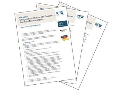 Merkblatt zum KfW-Programm 433 – Brennstoffzellenheizungen