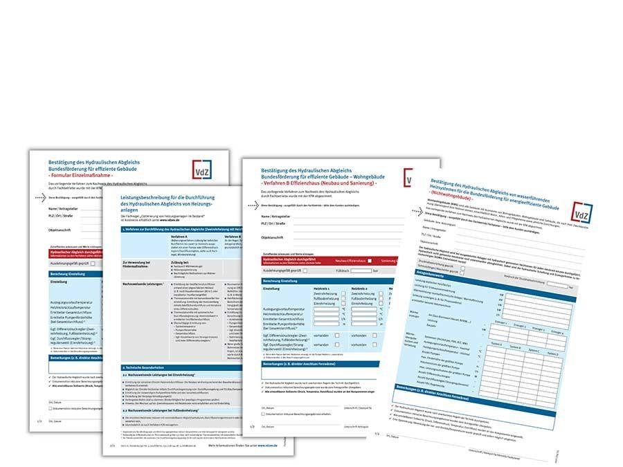 VdZ-Formulare zum Nachweis des hydraulischen Abgleichs jetzt BEG-konform