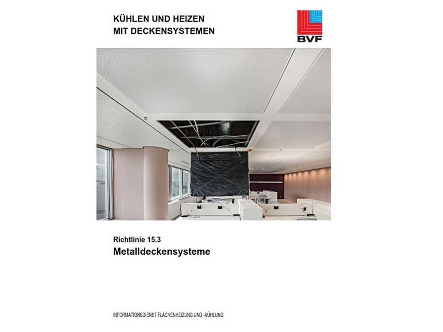 """""""Metalldeckensysteme"""" zum Heizen und Kühlen"""