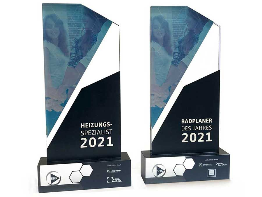 SHK Online-Awards: Badplaner sowie Heizungsspezialist 2021 gewählt