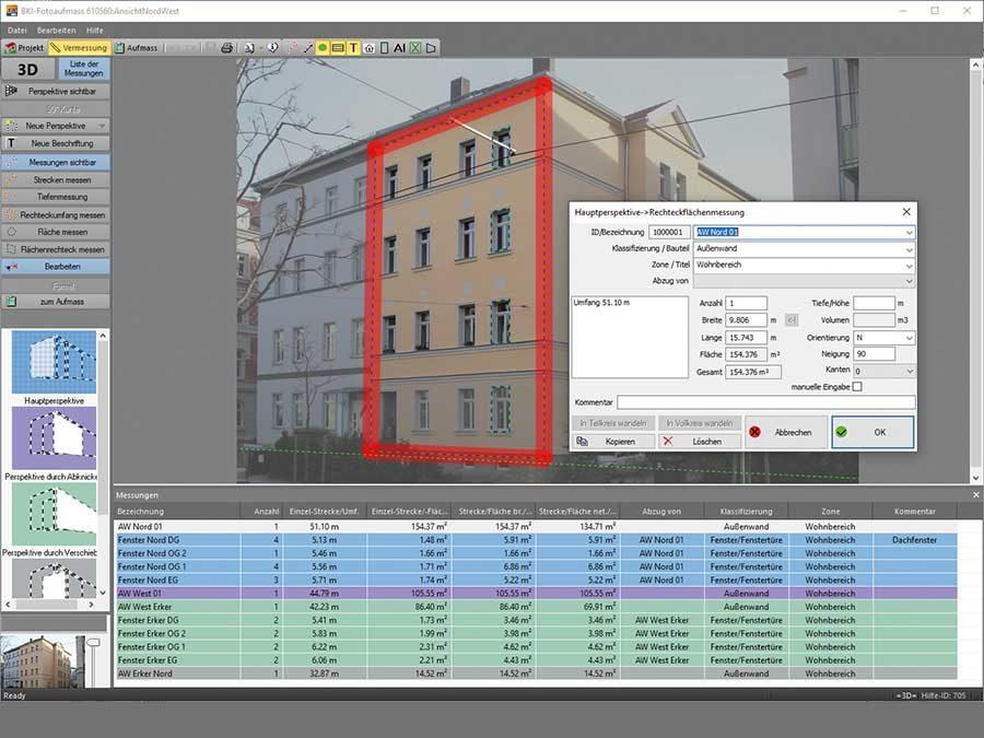 """Baukosteninformationszentrum Deutscher Architektenkammern (BKI): Update für """"Fotoaufmaß""""-Software"""