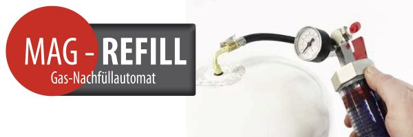 MAG-Refill: Ergänzung des Gaspolsters bei Membran-Ausdehnungsgefäßen